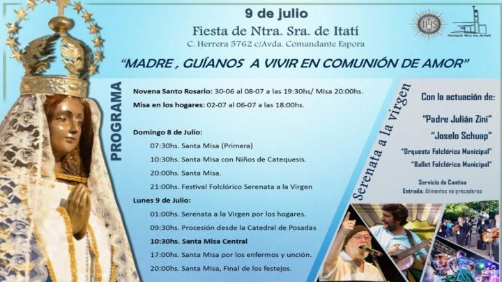 Programa Fiestas Patronales Ntra. Sra. de Itatí