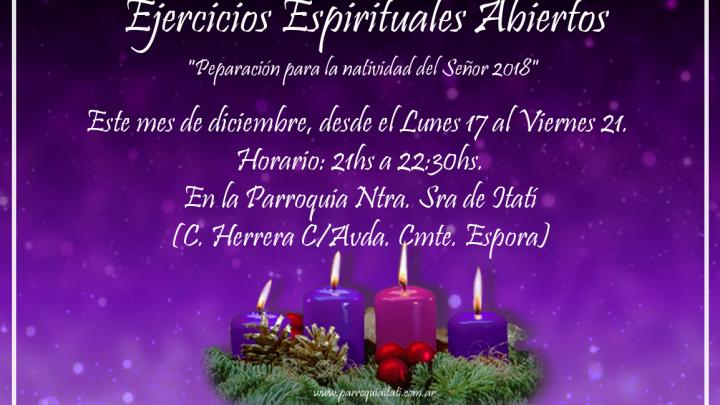 Ejercicios Espirituales Abiertos de Adviento